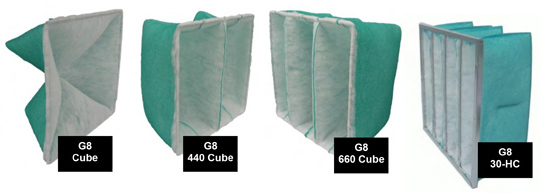 Extended Surface G8 Cube Filters